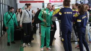 Националният отбор по волейбол за жени се прибра в София