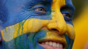 Феновете на Швеция срещу Англия