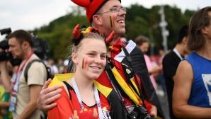 Привържениците на Белгия срещу Англия