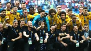 Награждаване на Белгия с бронзовите медали