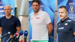 Официална пресконференция на треньорите от група G на СП по волейбол