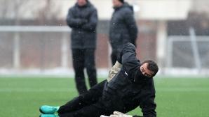 Футбoлистите на Славия с първа тренировка за годината