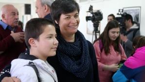 """Олимпийската шампионка Румяна Нейкова се срещна с ученици от спортно училище """"Генерал Владимир Стойчев"""""""
