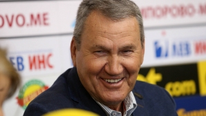 Пресконференция на Атанас Голомеев, след като е приет в залата на славата на ФИБА