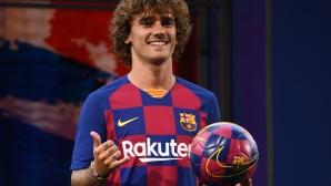 Гризман беше представен като футболист на Барселона