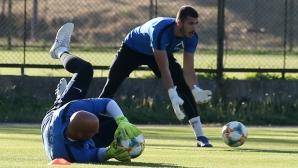 Тренировка на Левски преди мача с Витоша (Бистрица)