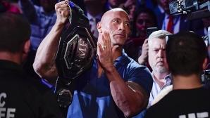 Скалата и Доналъд Тръмп на UFC 244