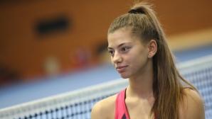 Тренировка и интервю с българската надежда в тениса Дария Радулова
