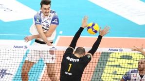 Матей Казийски отново показа световен волейбол, заби 25 точки (6 аса), но Верона загуби