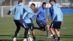 Тренировка на Левски след загубата от Славия