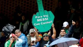 Този боливийски фен имаше послание за Меси