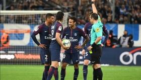 Неймар вкара гол и получи червен картон в дербито с Марсилия
