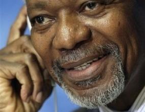 """Кофи Анан ще гледа финала на Мондиала от трибуните на """"Олимпиящадион"""""""