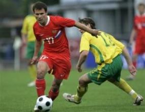 Русия отнесе Литва с 4:1
