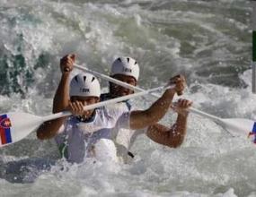 Словаци защитиха титлата си на двуместно кану в слалома в бързи води