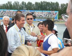 Руми Нейкова с олимпийска титла пред погледа на президента