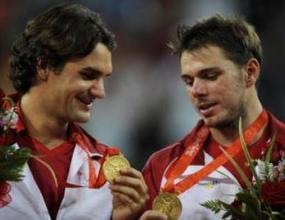 Федерер и Вавринка взеха златните медали