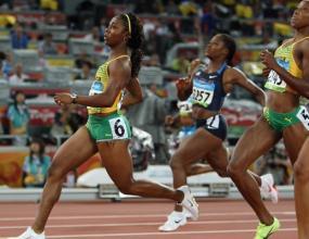 САЩ срещу Ямайка в женския финал на 100 метра