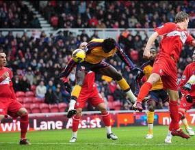 """Арсенал пропусна да бие Боро на """"Ривърсайд"""""""