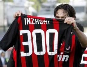 Пипо Индзаги с гол номер 300