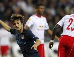 Манчестър Сити надигра Ред Бул в Залцбург, Силва с първи гол (видео)
