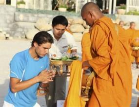 Сервисът на Надал вдъхновен от голф легенда