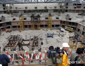 7 метра не достигат за атлетическа писта в строящата се многофункционална зала