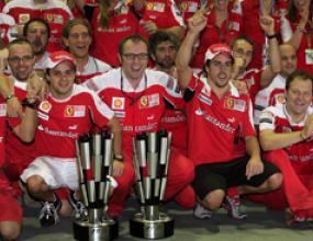 Монтеземоло приветства силната форма на Ферари