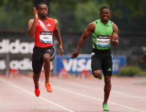 Най-бързият спринтьор за сезона Тайсън Гей остана втори на 100 метра