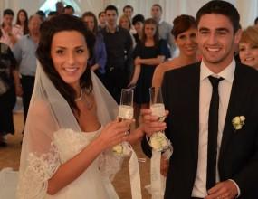 Халф на Левски се ожени (снимки)