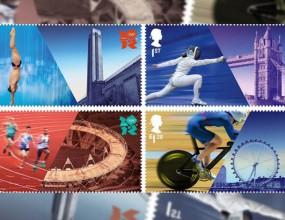 Британската кралска поща пуска марки в чест на летните олимпийски игри в Лондон