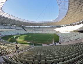 Първият завършен стадион за Мондиал 2014 вече приема мачове