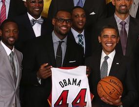 Маями Хийт посетиха Обама в Белия дом