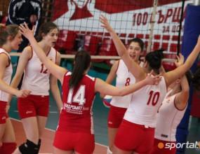 ЦСКА надигра Левски с 3:1 и се класира за финал при девойките старша (ГАЛЕРИЯ)