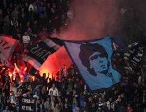 Фенове на Милан атакуваха с камъни автобус с привърженици на Наполи