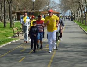 Най-бързият българин проведе тренировка с деца в Бургас
