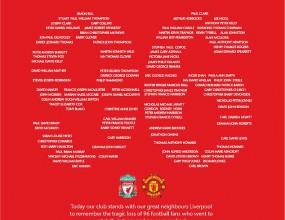 """Манчестър Юнайтед с трогателен жест към Ливърпул и жертвите на """"Хилзбъроу"""""""