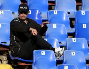 """Кокала като полицай на """"Герена"""" (снимки)"""