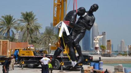 Поставят статуя на удара с глава на Зидан в гърдите на Матераци