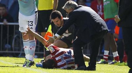 Капитанът на Атлетико извън игра за три седмици