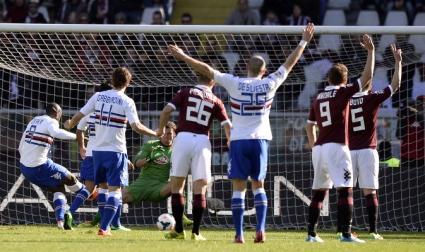Самп наказа Торино като гост