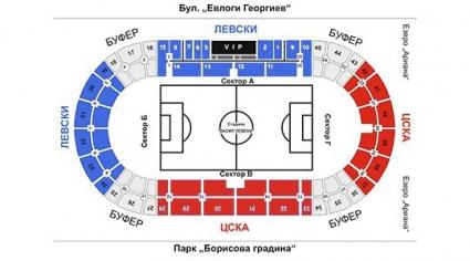 Предварителна продажба на билети за Левски - ЦСКА