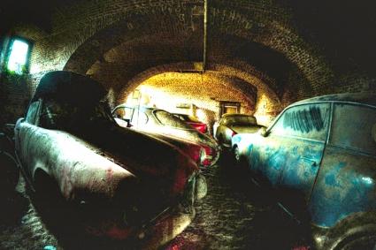 Автомобилният парк на Alfa Romeo ... от подземието