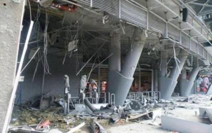 """Бомби избухнаха на стадиона на Шахтьор - """"Донбас Арена"""" в опасност (видео+галерия)"""
