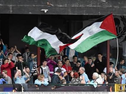 УЕФА наложи глоба заради палестинския флаг