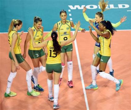 Бразилия остави без шанс Русия след 3:0 на финалите на Гран При