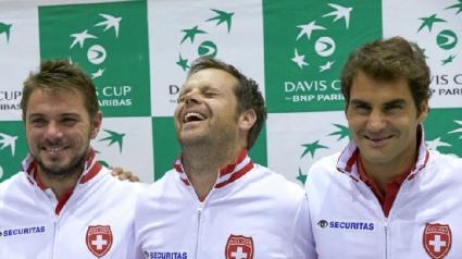 """Федерер и Вавринка водят Швейцария срещу Италия за """"Купа Дейвис"""""""