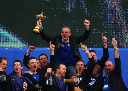Доминацията продължава - Европа с трети пореден триумф на Ryder Cup (видео+галерия)