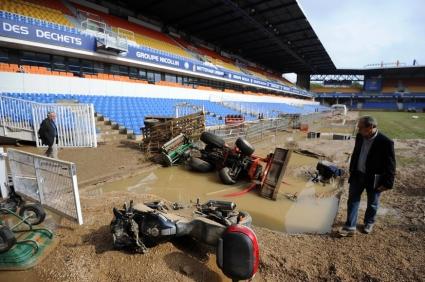 Монпелие отмени мач с Милан заради наводнения си стадион