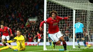 """Юнайтед оцеля в драматичен епилог на """"Олд Трафорд"""" и записа четвърти пореден успех (видео)"""